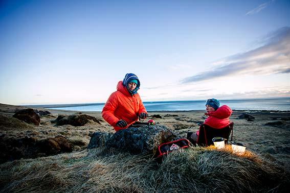 Wintercamping in Island